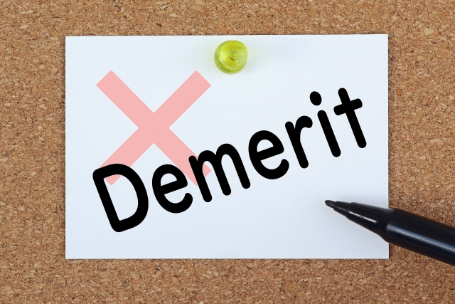 demerit